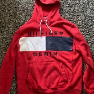 Tommy Hilfiger Shirts - (Used Red) Tommy Hilfiger Denim hoodie